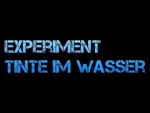 Experimente im Sachunterricht - Tinte im Wasser