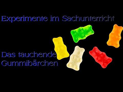 Experiment im Sachunterricht - Gummibärchen